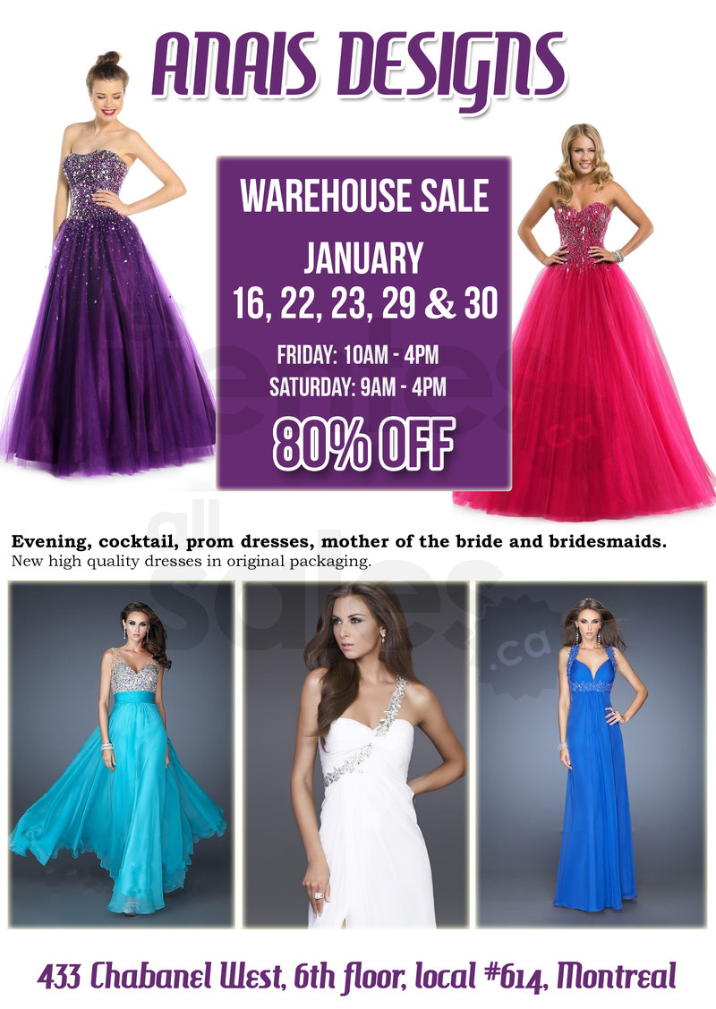 Cocktail and evening gowns - 80% off | allsales.ca