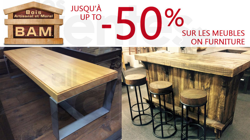 Handcrafted wood furniture up to 50 off