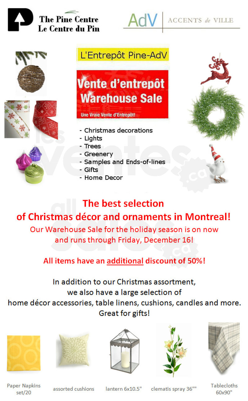 Christmas Decor Sale  Save an extra 50  allsalesca