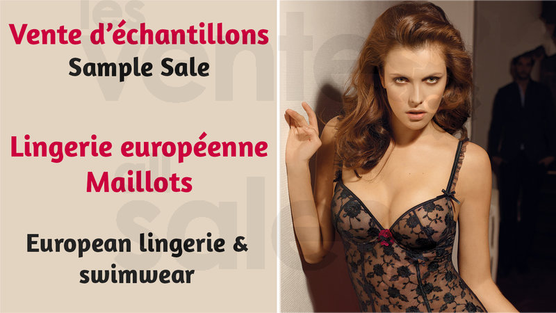 e8ba900027 European Lingerie   Swimwear Sample Sale