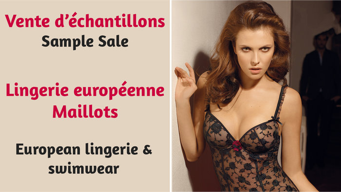 ca06c94337 European Lingerie   Swimwear Sample Sale