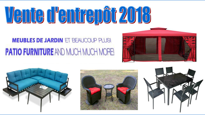 Patio furniture warehouse sale and more - don't miss out - Until June 17!  All taxes are included. Enjoy our best prices of the season + we pay taxes  on ... - Patio & Outdoor Furniture Warehouse Sale Allsales.ca