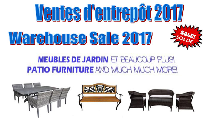 Patio furniture warehouse sale - final reductions - don't miss out! All  taxes are included. Until August 18th, save on patio sets, gazebos,  hammocks, ... - Patio & Outdoor Furniture Warehouse Sale Allsales.ca