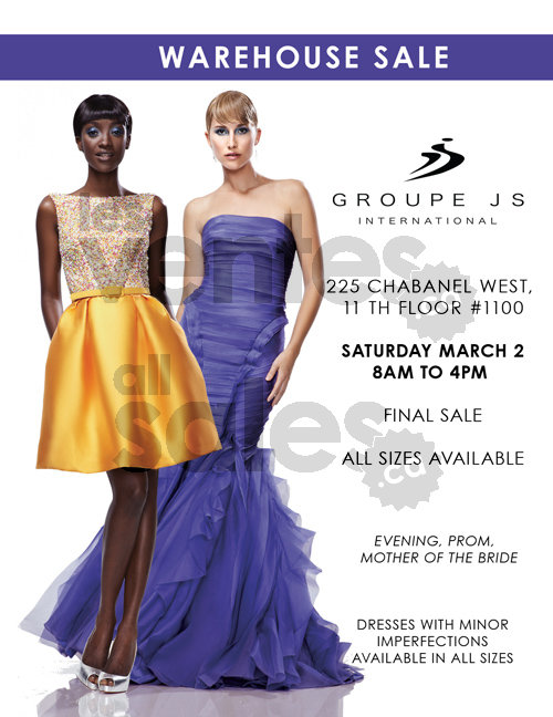 Gowns & dresses sale, warehouse prices! | allsales.ca