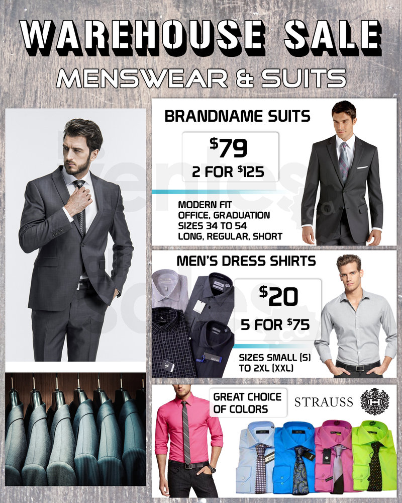 6ea9f4c8e333d Warehouse sale for men  suits  79...