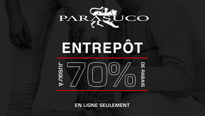 80bcb6c1921 Parasuco Outlet – Up to 70% off