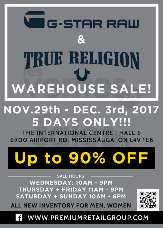 92030ffcf G-Star   True Religion warehouse sale