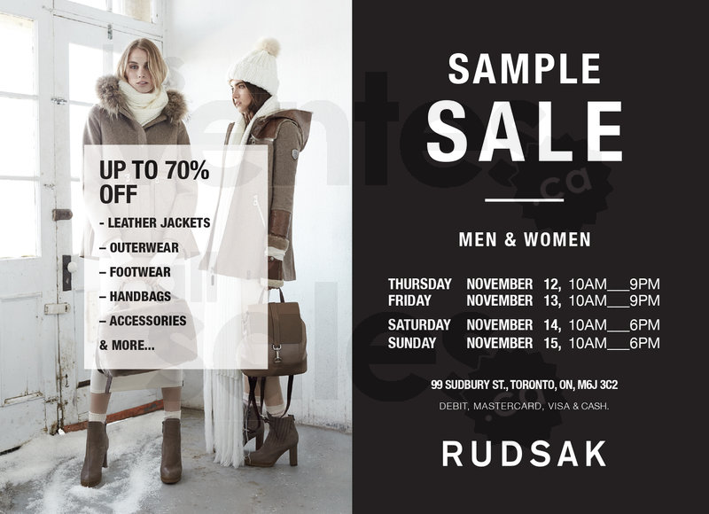 Rudsak] rudsak sample sale (toronto) redflagdeals. Com forums.