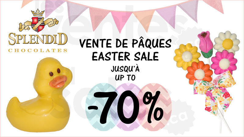 Easter chocolates sale up to 70 off allsales free gift with purchase of 20 upon presentation of this ad negle Image collections