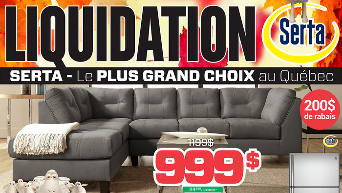 Liquidation Sale At Surplus RD On Serta Sectionals And Living Room Furniture Until October 29 Need New For Your Kitchen