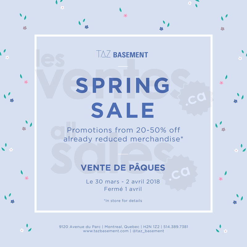 28667f4dc18 Taz Basement mega spring sale 20%-50%