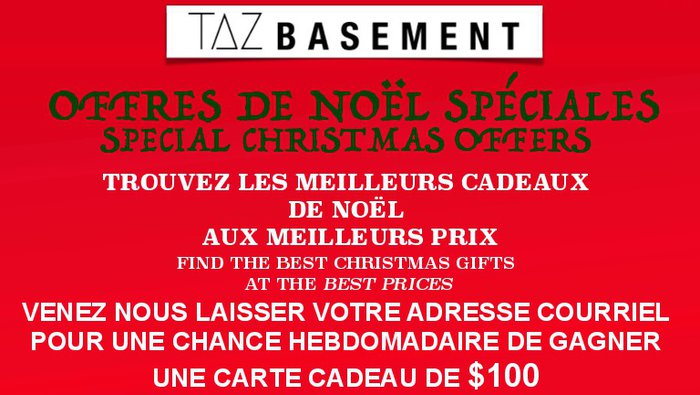 e7750d2acd8 Come discover the special Holiday offers at the TAZ Basement store in  Montreal! Get amazing discounts on stylish apparel and footwear from the  top brands ...