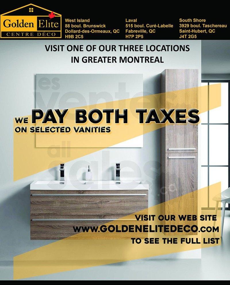 Bathroom Vanities Quebec taxes paid on bathroom vanities! | allsales.ca