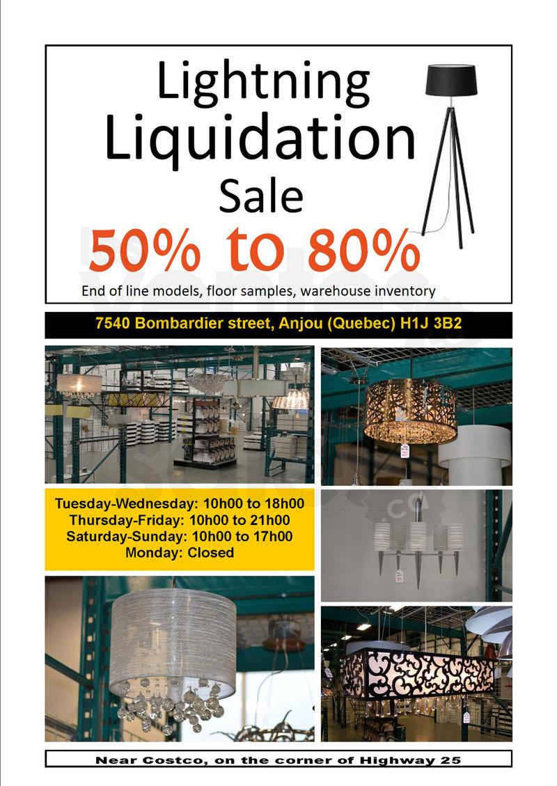 Lightning Liquidation Sale