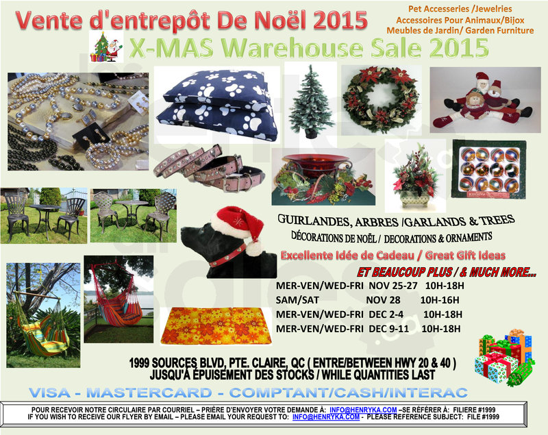 XMas Decorations Warehouse Sale  allsalesca